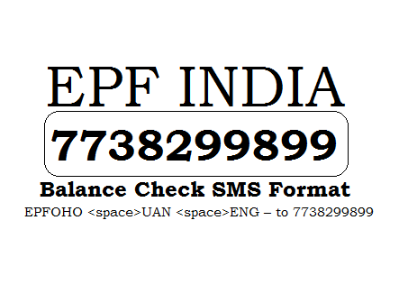 EPF Balance Check by SMS